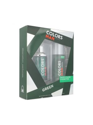 SET BENETTON COLORS GREEN 2PZS