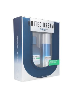 SET BENETTON UNITED DREAMS TOGETHER FOR HIM 2PZS 100ML EDT SPRAY/ DESODORANTE 150ML SPRAY